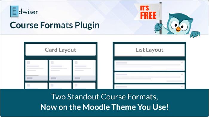 Edwiser course format plugin for Moodle