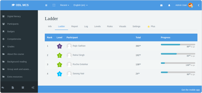 Level up plugin for Moodle